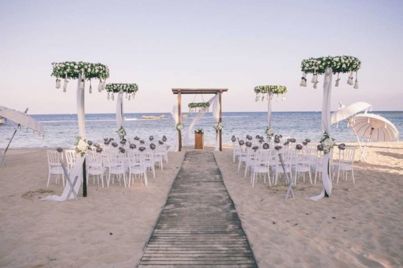 Wedding on the beach or on the lake shore