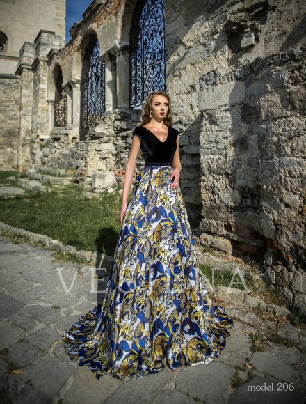 Collection «Veronica»: Evening dress, model 206 from Vesilna™ — for wholesale and retail фото