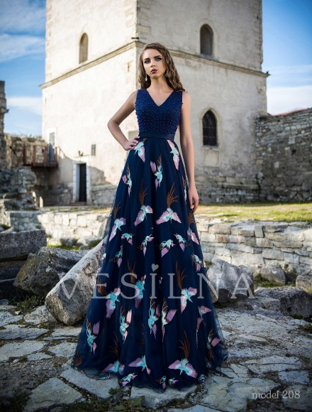 Collection «Veronica»: Evening dress, model 208 from Vesilna™ — for wholesale and retail фото