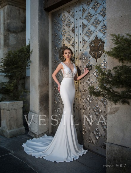 Collection «Flower on the stone»: Wedding dress, model 5007 from Vesilna™ — for wholesale and retail фото