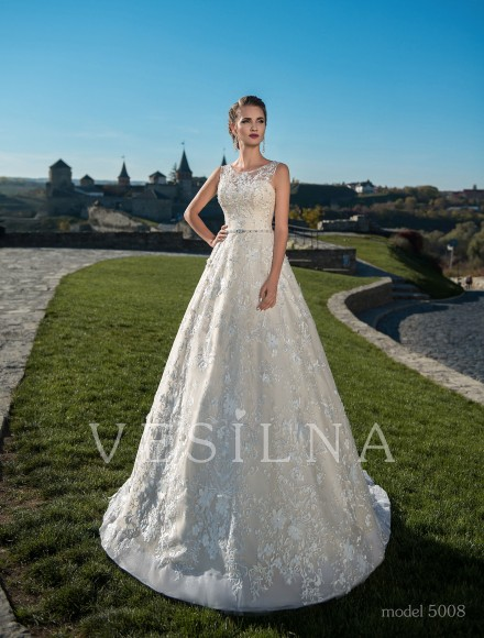 Collection «Flower on the stone»: Wedding dress, model 5008 from Vesilna™ — for wholesale and retail фото