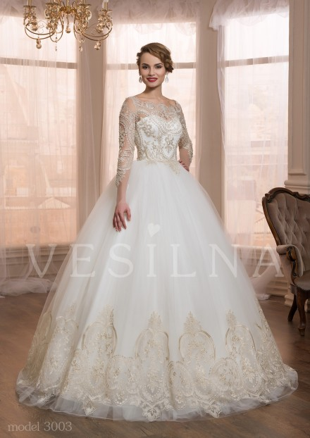 Collection «VICTORIA»: Wedding dress, model 3003 from Vesilna™ — for wholesale and retail фото