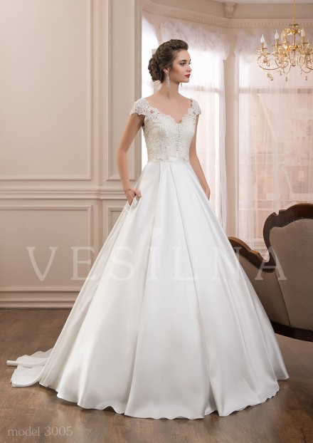 Collection «VICTORIA»: Wedding dress, model 3005 from Vesilna™ — for wholesale and retail фото
