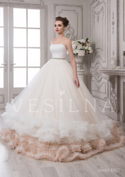 Collection «SOFIA»: Wedding dress, model 4005 from Vesilna™ — for wholesale and retail фото